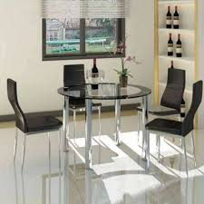 Mfd025 Round Dining Table And 4 Chairs