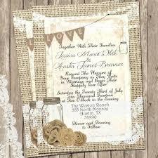 Rustic Wedding Invitations With Burlap And Lace Invitation Invite Mason Jar Printable Digital