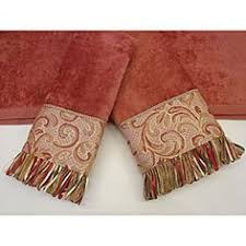 Decorative Hand Towel Sets by Decorative Hand Towel With Beaded Trim For Your Powder Room