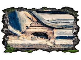 3d wandtattoo auto alt antik rost oldtimer vintage selbstklebend wandbild wohnzimmer wand aufkleber 11m004 3dwandtattoo24 de