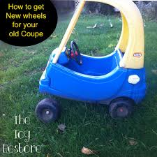 How To Fix A Vintage Little Tikes Cozy Coupe Wheel / Tire