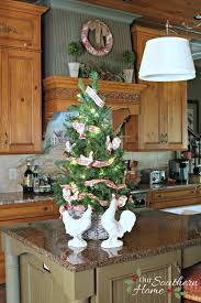 Thrift Store Basket Becomes Kitchen Counter Christmas Tree With A Simple Paint Technique