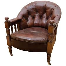 English Victorian Tufted Leather Barrel Back Open Armchair For ... Cowhide Arm Chair John Proffitt Best 25 Armchairs Ideas On Pinterest Armchair Teal Chair And Modern Made In Italy Amazoncom Modway Chloe Wood Grey Kitchen Ding Engage Hayneedle 400 Tank Hivemoderncom Irving Leather Chestnut Pottery Barn Au The Havana By Softline The Shop Baxton Studio Lotus Contemporary Fabric Yellow Bart Sofa Moooicom Versailles Daddy Gold Bedrooms Chairs Traditional Ikea