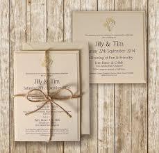 Rustic Wedding Invitations Ebay Uk