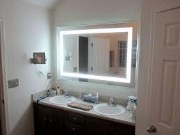 espejo de tocador led para baño con luz frontal 60 x 40