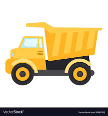 Soar Pictures Of Construction Trucks Truck Icon Flat Style Royalty ...