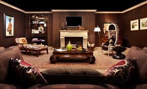 Brown Carpet Living Room Ideas by Living Room Beauteous Image Of Living Room Decoration Using Black