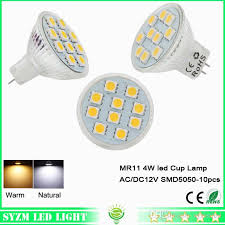 best mr11 led bulb smd5050 glass cup light ac dc 12v 4w warm