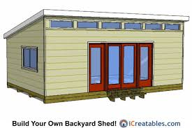 Shed Plans 16x20 Free by 16x24 Modern Shed Plans 16x24 Shed Plans Pinterest Modern