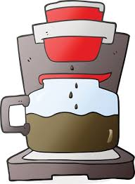 Cartoon Coffee Maker Premium Clipart