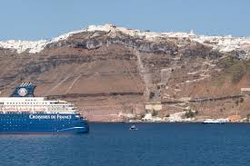 Cruise Ship Sinking Santorini by James Gaston