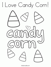 I Love Candy Corn Coloring Page
