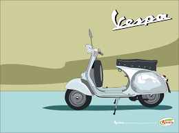 Vintage Vespa Drawing Images Free Download
