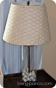 Chicken Wire Wrapped Lamp Shade