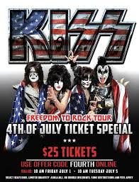 From Now Until 1000am On July 5th Or While Supplies Last KISS Is Offering Limited Amounts Of 25 To Their Freedom Rock Tour