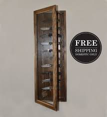 FREE SHIPPING Knife Display Case Walnut Wall By Reclaimerdesign More