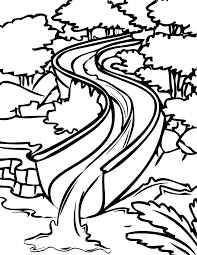 Water Slide Coloring Page