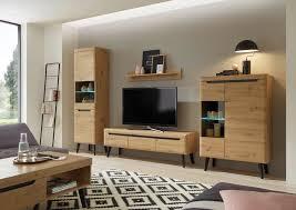 my home wohnwand torge set 4 tlg besteht aus vitrine lowboard wandregal vitrine kaufen otto