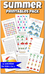 Summer Printables Pack With More Than 70 Activities And Worksheets For Kids Ages 2