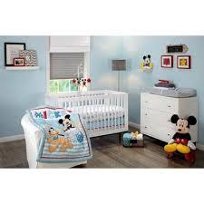 amazon com disney let s go mickey mouse adorable 3 piece crib