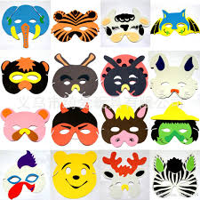 Scary Halloween Half Masks by New Christmas Kids Cute Children Masks Animals Boys And Girls