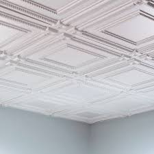 Fasade Glue Up Decorative Thermoplastic Ceiling Panels by Fasade Classic Coffer Cherry 2 Foot Square Lay In Ceiling Tile