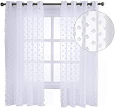eugad 2er set gardinen transparent mit ösen dekoschal blumen