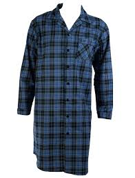 checked nightshirt mens brushed cotton walker reid button up