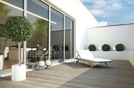 terrasse puristisch gestalten so richten sie moderne