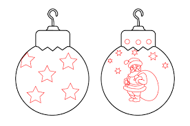 Christmas Ornaments Personalized Drawings