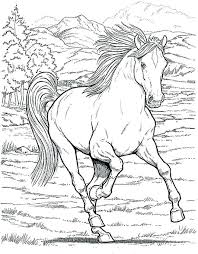Unicorn Coloring Pages For Girls Realistic As Well Horse