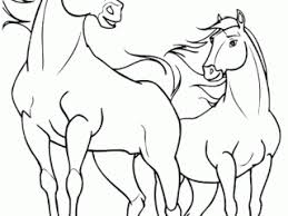 Spirit Pictures To Color And Rain Horses Coloring Page Free
