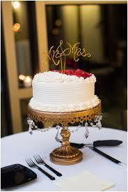 Simple Wedding Cake by Whole Foods with Mr and Mrs Cake Topper