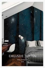 hochwertige schlafzimmertapete die an einen sternenhimmel