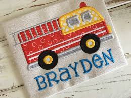 100 Fire Truck Applique Embroidery Design 5x7 6x10 Etsy