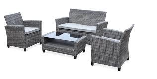 tables de jardin en resine salon jardin 4 personnes jardin mobilier exterieur maisondours