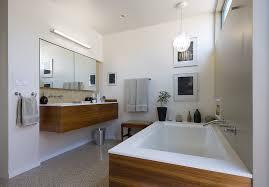 los angeles terrazzo tile bathroom modern with undermount tub