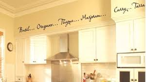 decorative words for walls kitchen words spices wall border soffit border vinyl wall decor