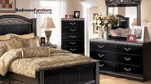 Ashley Furniture Bedside Lamps by Ashley Constellations 4 Piece Poster Bedroom Set In Black Youtube