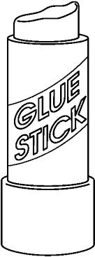 Glue Stick Black And White Clipart