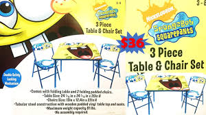 SPONGE BOB SQUAREPANTS - 3 PIECE TABLE AND CHAIR SET