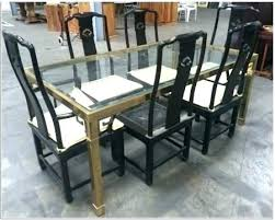 Prestigious Dining Table Shattered Glass Dimensions Rv Used And Chairs