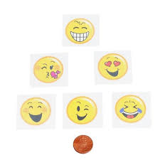 Emoji Kids Removable Tattoos 144 Total In 2 Packages 5c Each