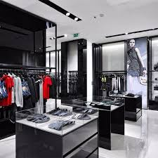 Modern Shop Counter Design For Garment Store Clothing Display Showcase