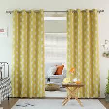 Moroccan Lattice Curtain Panels by Amazon Com Best Home Fashion Yellow Arrow Room Darkening Blackout