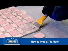 how to prep subfloor for tile installation youtube