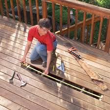 Distance Between Floor Joists On A Deck by Repairing Decks And Railings Family Handyman