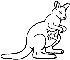 Kangaroo Mother And Baby Coloring Page From Kangaroos Category Select 27390 Printable Crafts Of Cartoons Nature Animals Bible Many More
