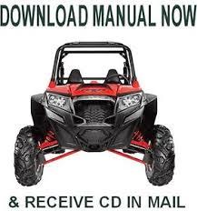 polaris ranger rzr 900 xp 2011 factory repair service manual on cd