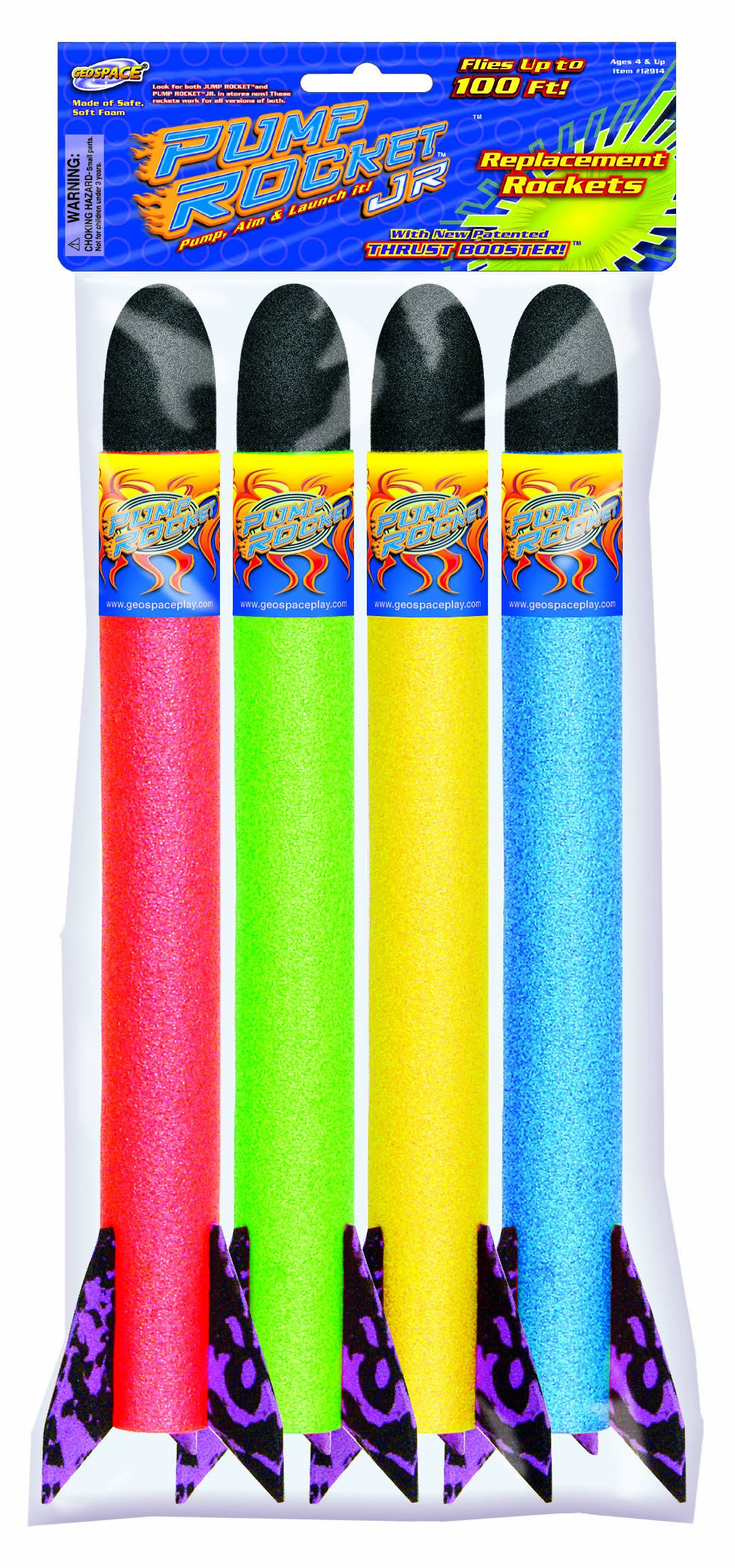 Geospace Jr Replacement Rockets - 4pk